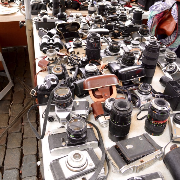 Cameras at Marche aux Puces Marolles Brussels