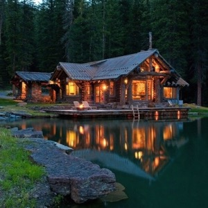 Rustic Lodge on Water  1