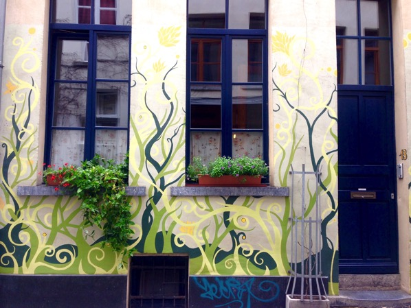 Street Art Brussels Vines on House