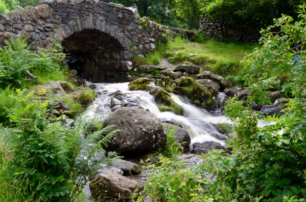 Ashiness Bridge Keswick Lake District UK