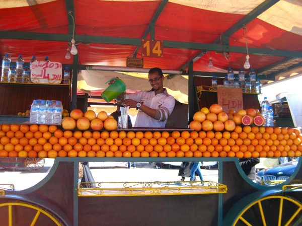 Orange Juice Stand in Marrakesh Morocco