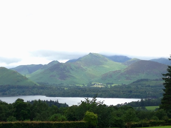 View from Castlerigg Hall campground Keswick Lake District UK